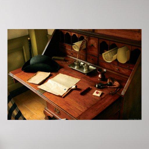 Escritor - el escritorio de un caballero posters