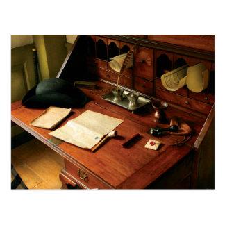 Escritor - el escritorio de un caballero tarjeta postal