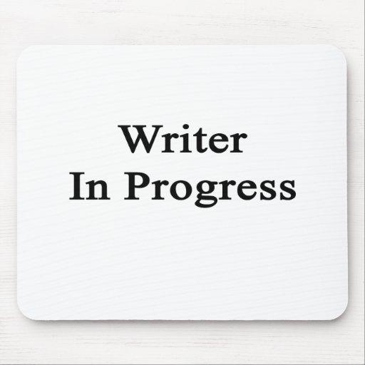 Escritor en curso alfombrillas de raton