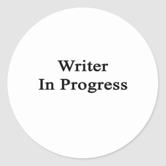 Escritor en curso pegatina redonda