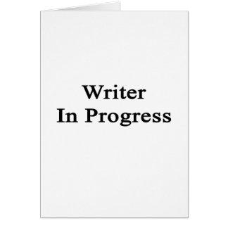 Escritor en curso felicitaciones