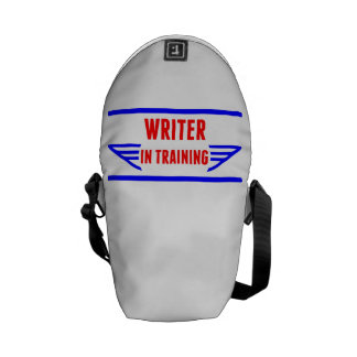 Escritor en el entrenamiento bolsas de mensajeria