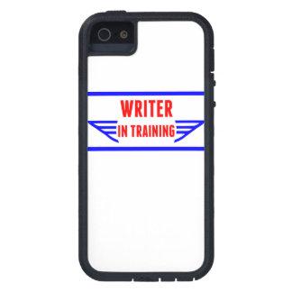 Escritor en el entrenamiento iPhone 5 Case-Mate cobertura