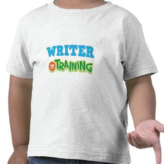 Escritor en el entrenamiento (futuro) camisetas