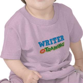 Escritor en el entrenamiento (futuro) camiseta