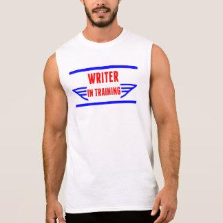 Escritor en el entrenamiento camisetas sin mangas