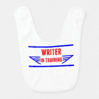 Escritor en el entrenamiento babero de bebé
