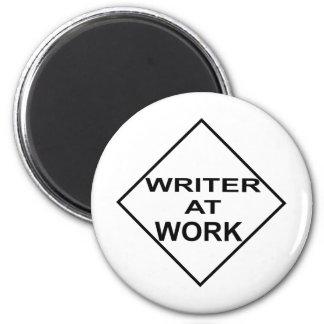 Escritor en el trabajo - regalo para los escritore imanes para frigoríficos