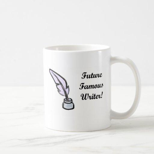 Escritor famoso del futuro tazas de café