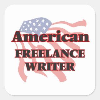 Escritor free lance americano pegatina cuadrada