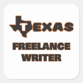 Escritor free lance de Tejas Pegatina Cuadrada