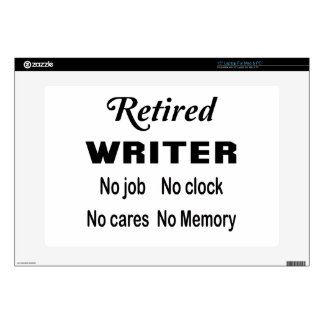 Escritor jubilado ningún trabajo ningún reloj portátil skin