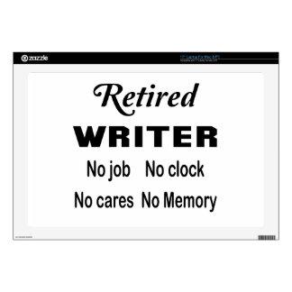 Escritor jubilado ningún trabajo ningún reloj skins para 43,2cm portátiles