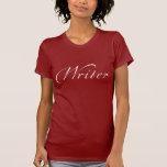 Escritor (letras blancas) camisetas