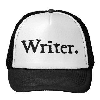 Escritor letras negras gorros bordados