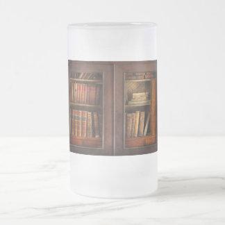 Escritor - libros - el gabinete del libro jarra de cerveza esmerilada