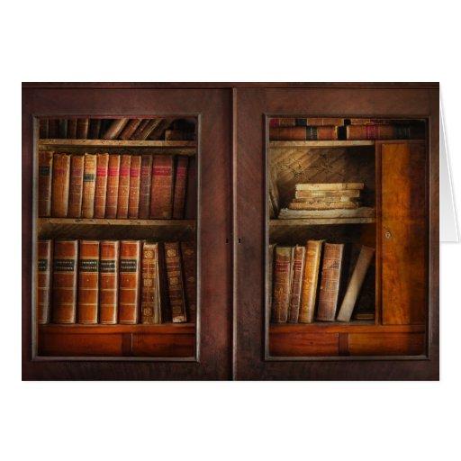 Escritor - libros - el gabinete del libro tarjeta de felicitación
