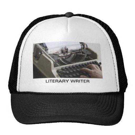 Escritor literario gorras