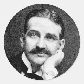 Escritor mago de Oz de Frank Lyman del ~ de Baum Etiquetas Redondas
