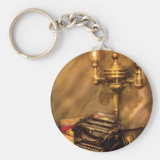 Escritor - máquina de escribir de Remington Llavero Redondo Tipo Pin