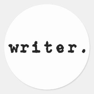 escritor. (máquina de escribir, negras en el pegatina redonda