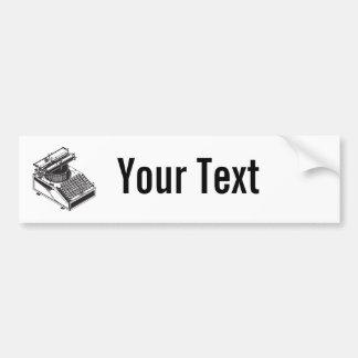 Escritor - mecanografíe la máquina de la escritura etiqueta de parachoque