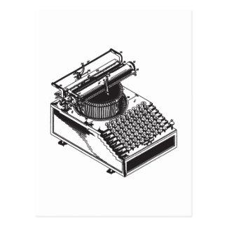 Escritor - mecanografíe la máquina de la escritura tarjeta postal