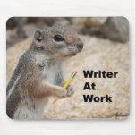 Escritor Mousepad de la ardilla Alfombrilla De Ratones