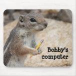 Escritor Mousepad de la ardilla Tapetes De Raton