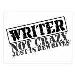 Escritor: No loco apenas en reescrituras Tarjetas Postales