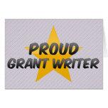 Escritor orgulloso de Grant Felicitaciones