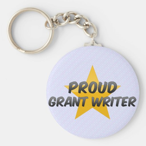 Escritor orgulloso de Grant Llavero Personalizado