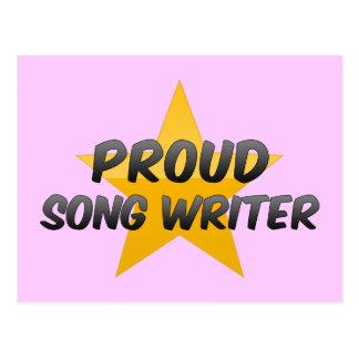 Escritor orgulloso de la canción postales