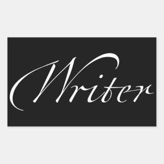 Escritor Pegatina Rectangular