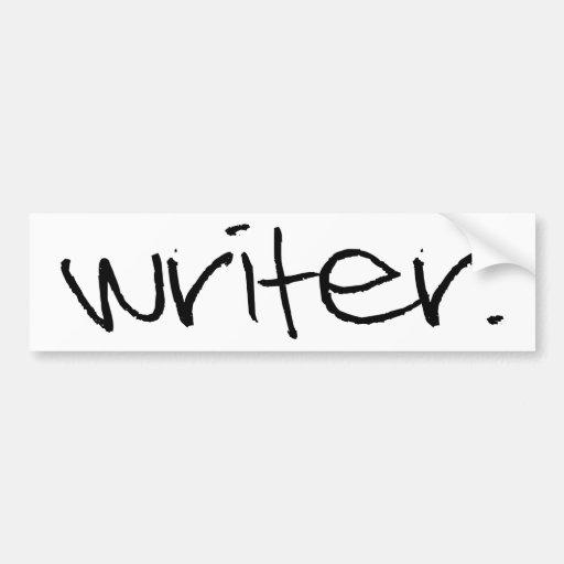 Escritor Pegatina Para Auto
