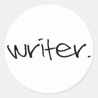 Escritor Pegatina Redonda