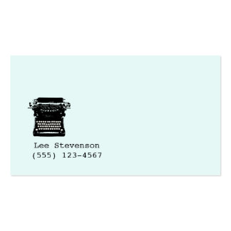 Escritor, redactor, tarjeta de visita de la