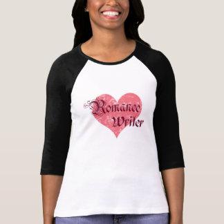 Escritor romántico camisetas