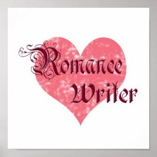 Escritor romántico póster