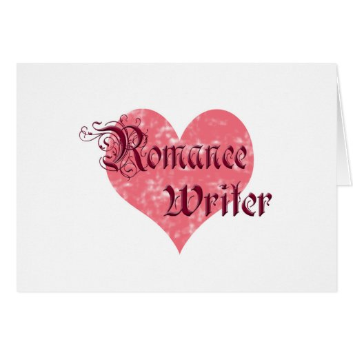 Escritor romántico tarjeta pequeña