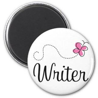 Escritor rosado lindo imán