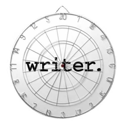 escritor tablero dardos
