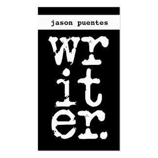 escritor tarjeta personal