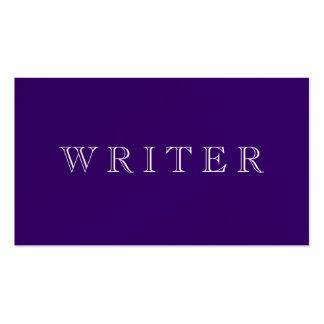 Escritor Tarjeta De Visita