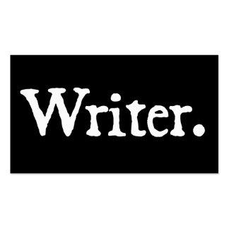 Escritor Plantilla De Tarjeta De Visita