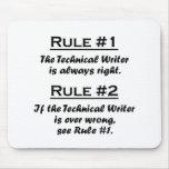 Escritor técnico de la regla tapetes de ratón