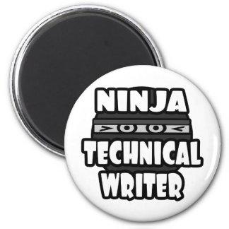 Escritor técnico de Ninja Imán Redondo 5 Cm