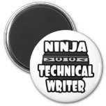 Escritor técnico de Ninja Imanes De Nevera