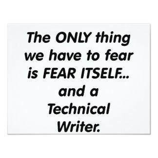 escritor técnico del miedo comunicado personalizado