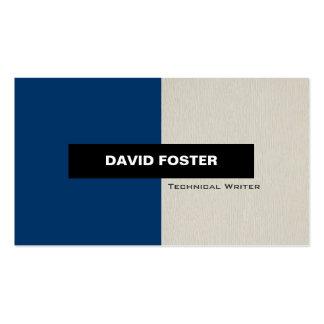 Escritor técnico - elegante elegante simple tarjetas de visita